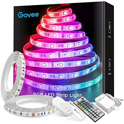 chollos oferta descuentos barato Govee Tiras LED 10m RGB Impermeable IP65 Mejorado Multicolor Tiras de Luces LED 300 LEDs 5050 SMD Control Remoto de 44 Botones 20 Colores Tira LED para Habitación el Dormitorio Cocina 12V