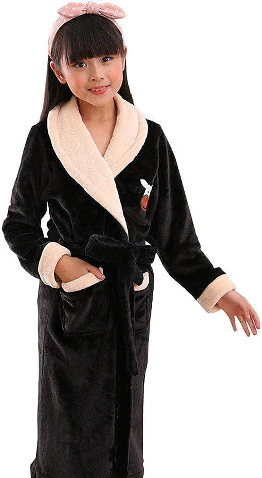 LW Bata para Hombre, Franela, Traje de Color sólido, Pijama, Bata ...