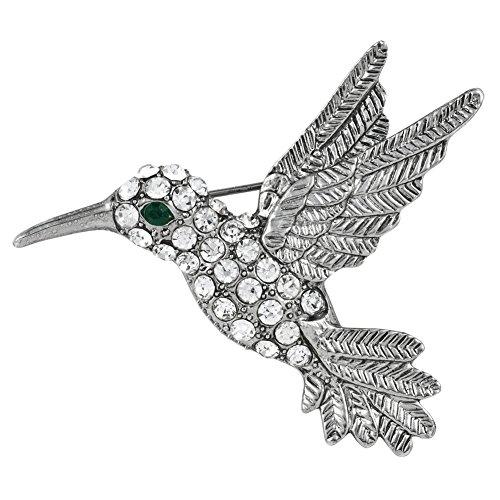 - Hummingbird Jeweled Silver Pin