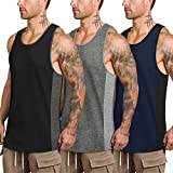 COOFANDY Mens Workout Tank Tops 3 Pack Quick Dry