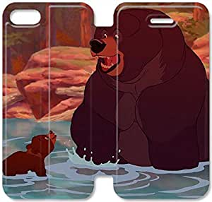 Personality Design Brother Bear-1 iPhone 5C Leather Flip Case