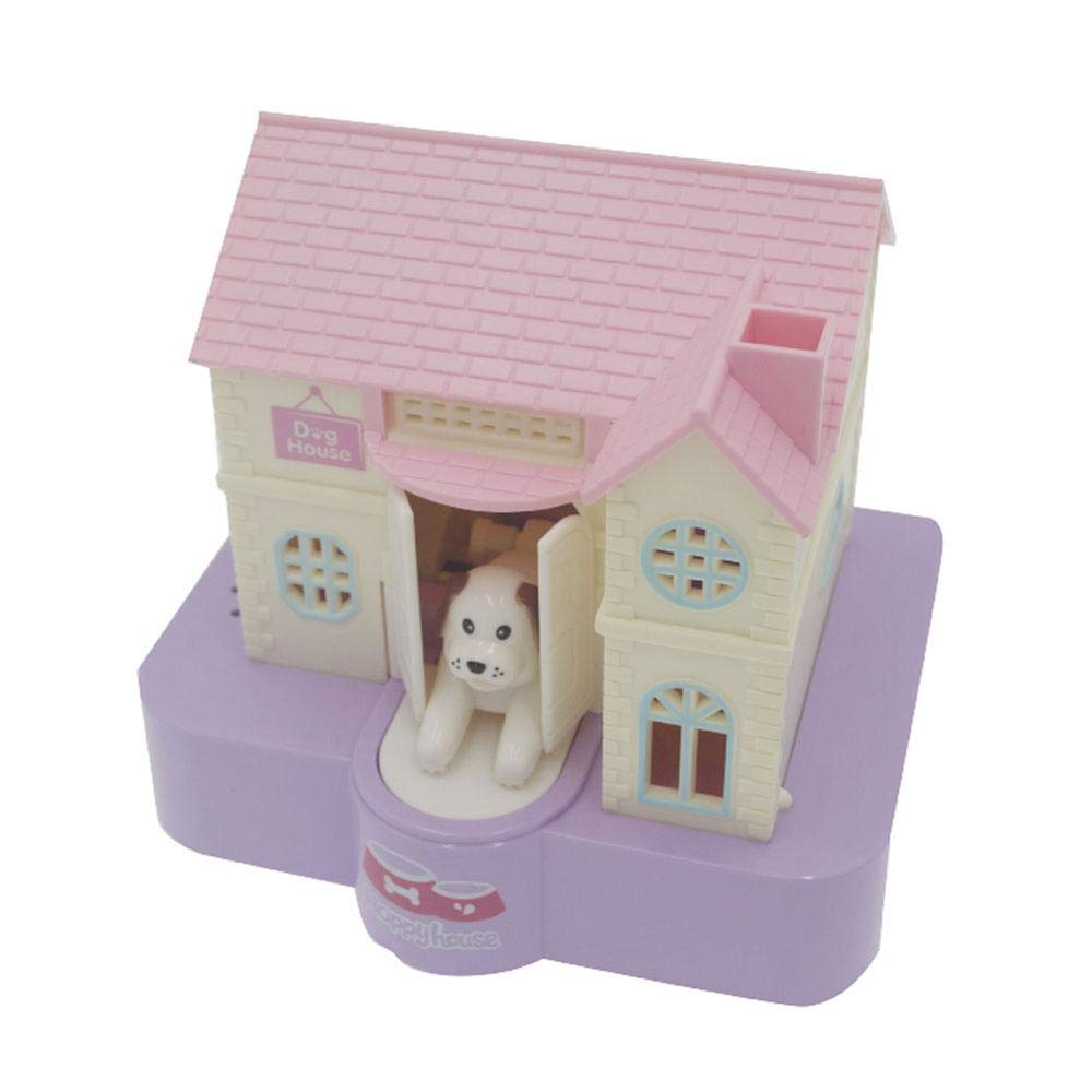 KOBWA Music Cute Puppy Stealing Coin Money Box Electric Music Money Saving Box House for Boys Girls Christmas Gifts Dog Piggy Bank