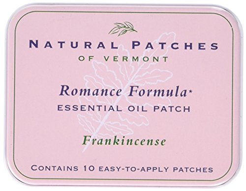 Natural Patches of Vermont Romance Formula Essential Oil Body Patches, Frankincense, 10-Count Tin -