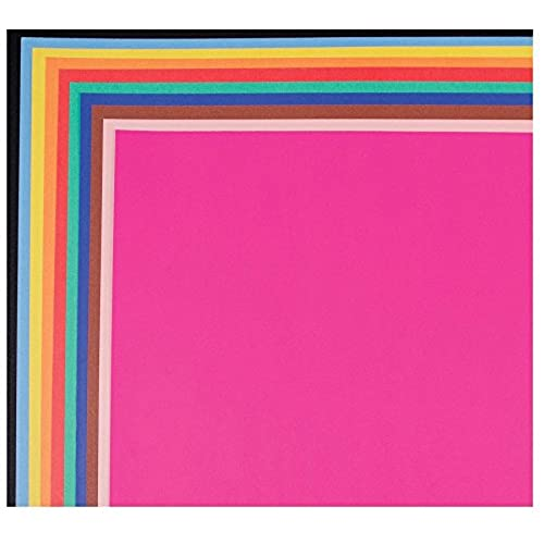 """School Smart 1485755 Railroad Board, 6-ply Thickness, 22"""" x 28"""", Assorted Color (Pack of 25)"""