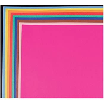 pacon 104234 neon color poster board 28 x 22 green orange pink red