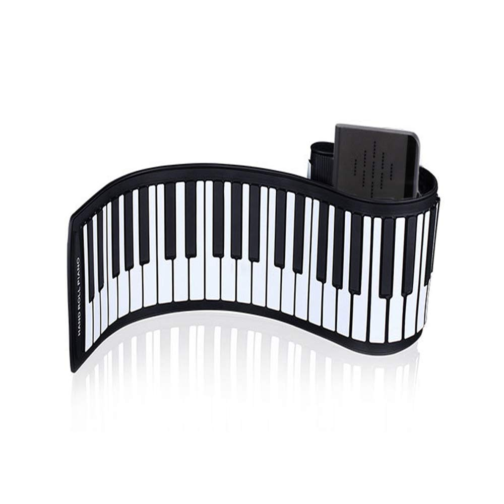 Sviper Foldable Hand Roll Piano Portable 88 Key Professional Thickening Keyboard Beginner Keyboard Adult Electric Piano Flexible Soft Electric Digital roll up Keyboard pi