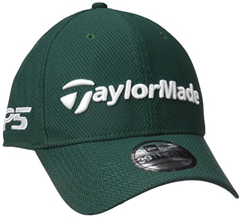TaylorMade Golf 2017 tour new era 39thirty white hat green m/l