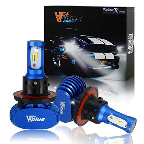 Vplus X Series LED Headlight Bulbs w/ Clear Arc-Beam Kit - H13 9008 72W 8,000LM 6500K White Seoul w/ No Fan All in One Headlamp LED Conversion Replace HID & Halogen - 1 Yr Warranty - (2pcs/set)