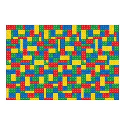 Fun Express - Block Party Backdrop Banner for Birthday - Party Decor - Wall Decor - Preprinted Backdrops - Birthday - 3 Pieces -