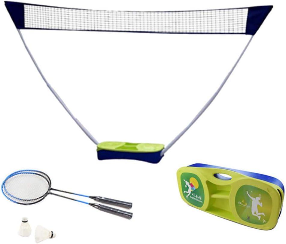 Filet de Badminton Portable,Filet de Volleyball pour Sports dint/érieur et Plage en Plein Air,Filet de Tennis 6.1X0.9M,Pliable,Facile /à Monter Facile /à Transporter,Hauteur R/églable