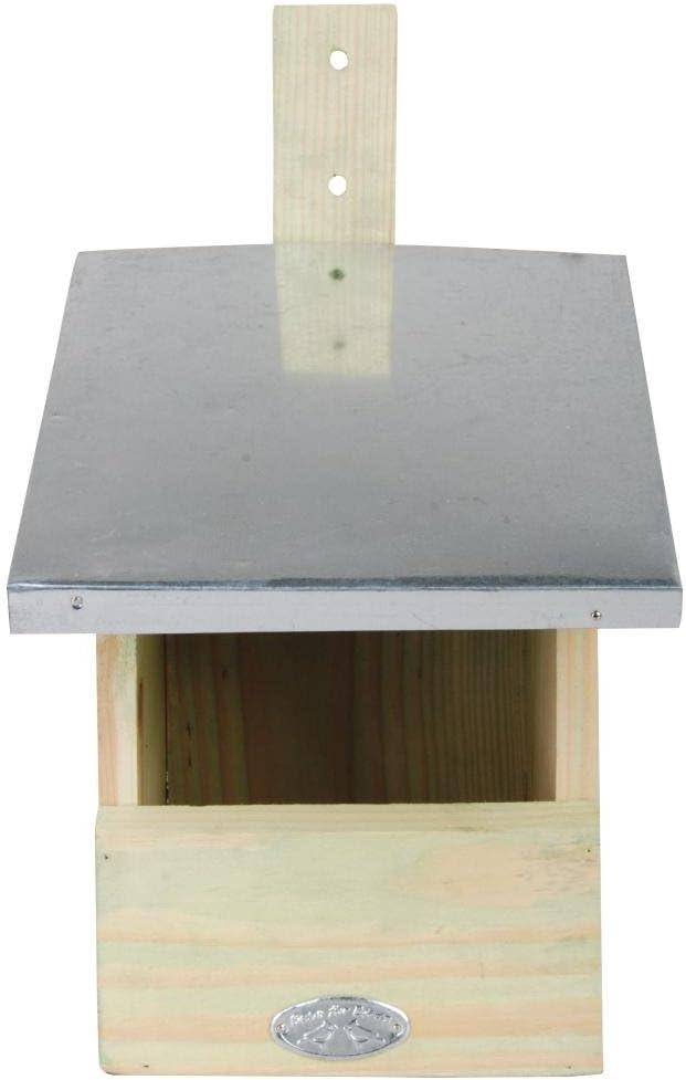 mit Metallabdeckung Vogelhaus aus Holz Nisth/öhle Esschert Design 2 St/ück Nistkasten f/ür Rotkehlchen je 19 x 21 x 33 cm Brutkasten Nisthaus
