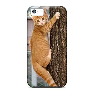 Cynthaskey Premium Protective Hard Case For Iphone 5c- Nice Design - Kitty On A Tree