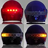 Amotor Wireless Waterproof 8 LED Motorcycle Helmet Safety Light