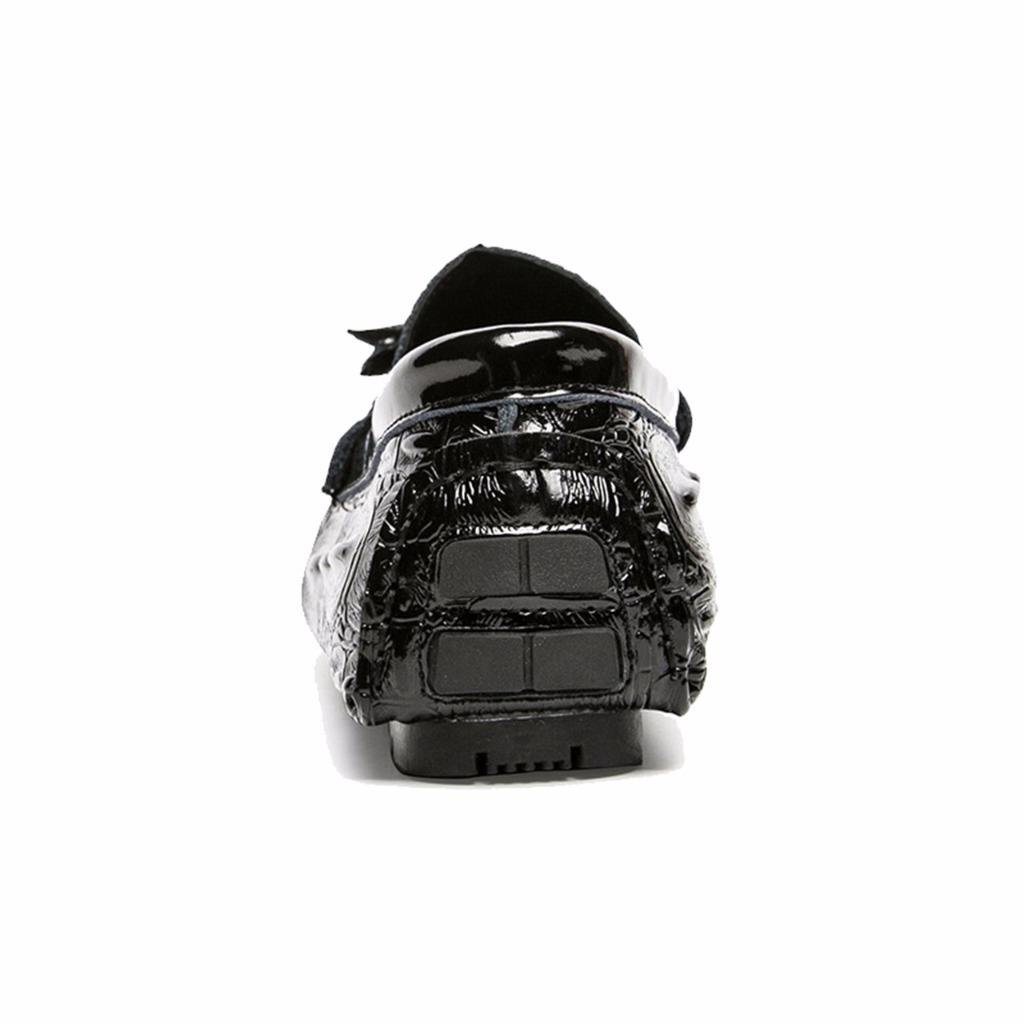 Amazon.com   Moonwalker Mens Crocodile Pattern Genuine Leather Slip-on Tassel Loafers   Loafers & Slip-Ons