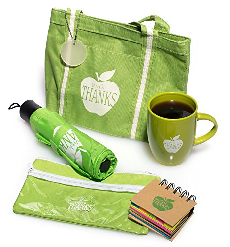 Employee Appreciation with Thanks Green Apple 5 Piece Gift Set -