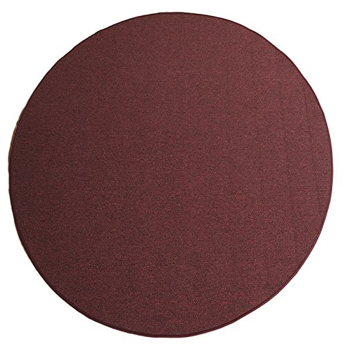 Havatex Schlingen Teppich Torronto rund - schadstoffgeprüft und pflegeleicht   robust strapazierfähig   für Flur Wohnzimmer Schlafzimmer, Farbe Blau, Größe 160 cm rund B00B66GF06 Teppiche