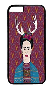 Apple Iphone 6 Case,WENJORS Adorable DEER FRIDA Hard Case Protective Shell Cell Phone Cover For Apple Iphone 6 (4.7 Inch) - PC Black