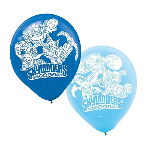 Swashbuckling Skylanders Printed Latex Balloons Birthday Party Decorations (6 Pack), Blue, 12