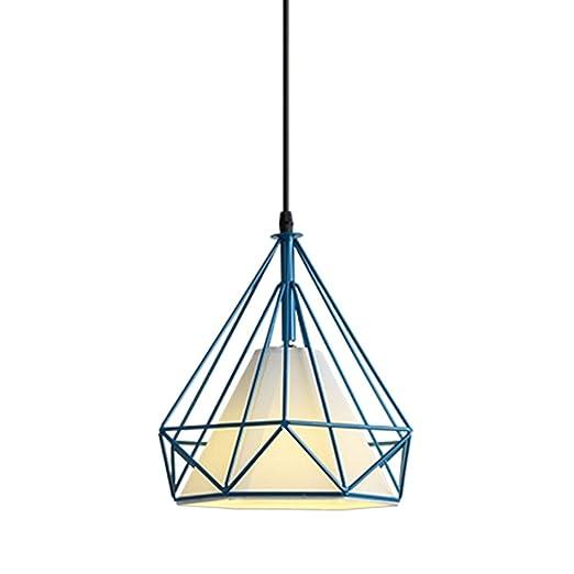 YQCSLS Lámpara colgante de jaula de pájaros de hierro - Lámpara de ...