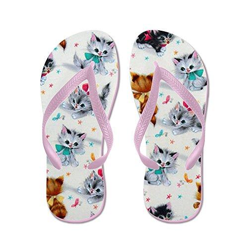 Leuke Schattige Kittens Van Cappapress - Flip Flops, Grappige Leren Sandalen, Strand Sandalen Roze