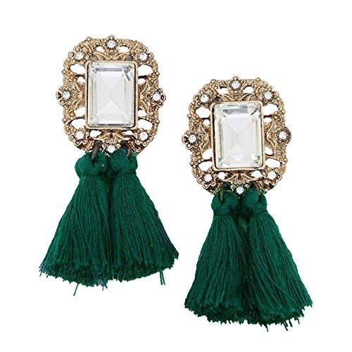 Wivily Fashion Bohemian Rhinestone Earrings