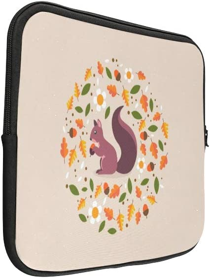 Unique Custom Cute Little Squirrel Print Sleeve Briefcase Soft Womens Briefcase Bag Briefcase Protective for MacBook Air 11