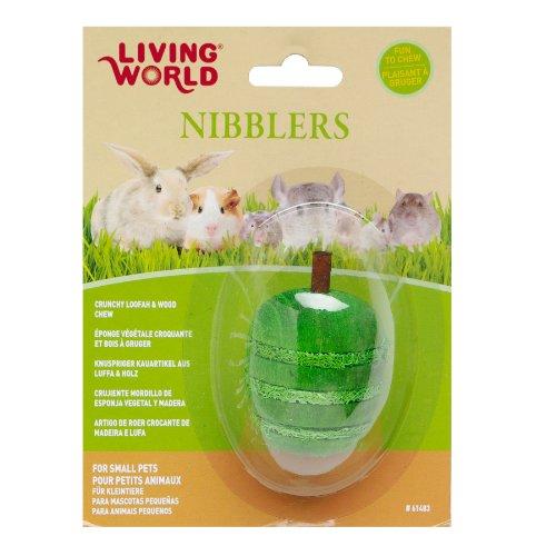 Picture LW Nibblers, Wood/Loofah Chews, Apple