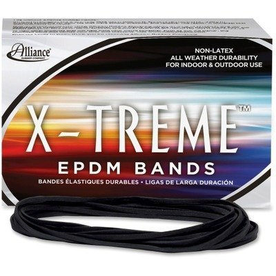 X-treme File Bands, #117B, 7 x 1/8, Black, Approx. 175 Bands/1lb Box by Alliance®