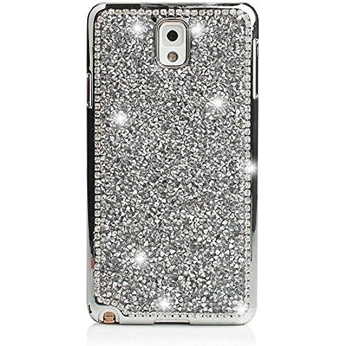 Case Galaxy s7 Edge,TechCode Bling Crystal Crown Rhinestone Flower Pearl Diamond Design Sparkle Glitter Handmade Sales