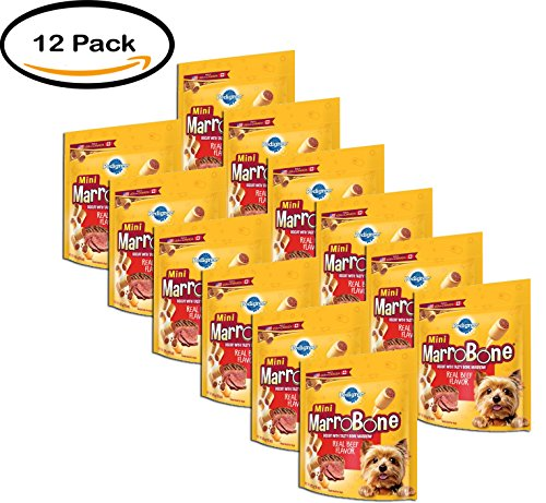 PACK OF 12 - PEDIGREE MARROBONE Real Beef Flavor Toy/Small Snacks for Dogs 15 Ounces by Pedigree