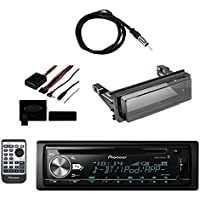 Pioneer Vehicle CD Digital Music Player Receivers with BluetoothMetra Axxess Universal Steering Wheel Control, Metra Radio Cover Kit For Harley-Davidson Touring Motorcycle and Enrock Marine Antenna