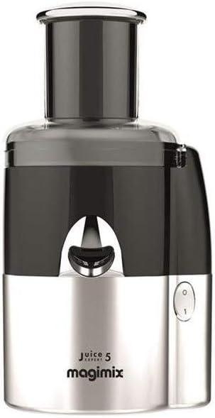 Magimix Juice Expert 5 Licuadora centrífuga Negro, Cromo 400 W - Exprimidor (Licuadora centrífuga, Negro, Cromo, Francia, 3 año(s), Suave/Duro, 400 W)