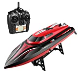 Arshiner RC Racing Boat,2.4GHz High Speed 30KM H 4 Channels Radio Remote Control Boat with LCD Screen for Pools - Lakes and Outdoor Adventure - Best Christmas Gifts for Kids & Adults(Red)