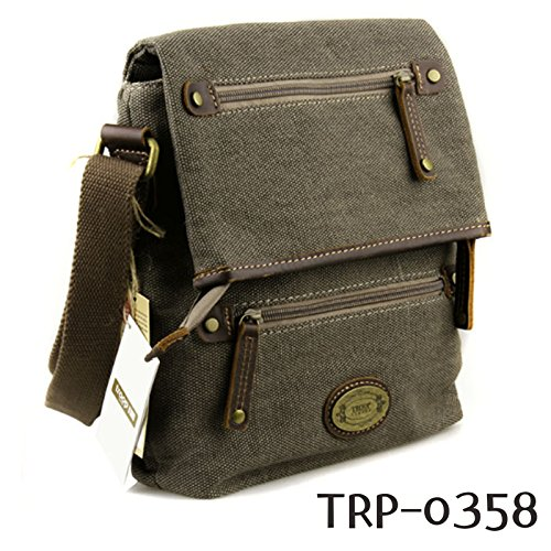new-troop-london-trp-0358-casual-shoulder-bag-leather-canvas-fabric-lightly-waterproof