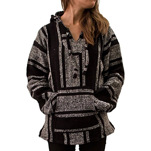 (Unisex Mexican Jerga Hoodie - Large,)