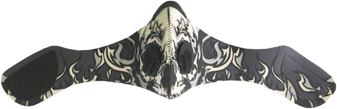 IronHeel Masque de v/élo /à Charbon Actif Anti-Pollution VTT Demi-Masque de v/élo de Route Masque de Sport antipoussi/ère pour la Course /à Pied Multicolore