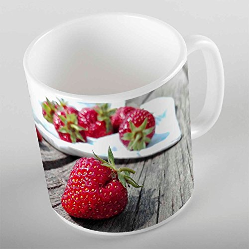 Else Red Strawberry Porcelain Art Coffee Tea Mug Gold Chrysa