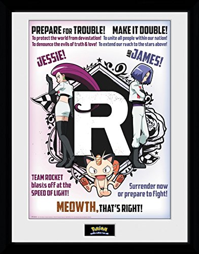 Pokemon Framed Collector Poster - Team Rocket (16 x 12 inches) (Pokemon X And Y Best Team)