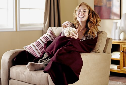 Sunbeam Fleece Heated Throw, Garnet, TSF8US-R310-31A00