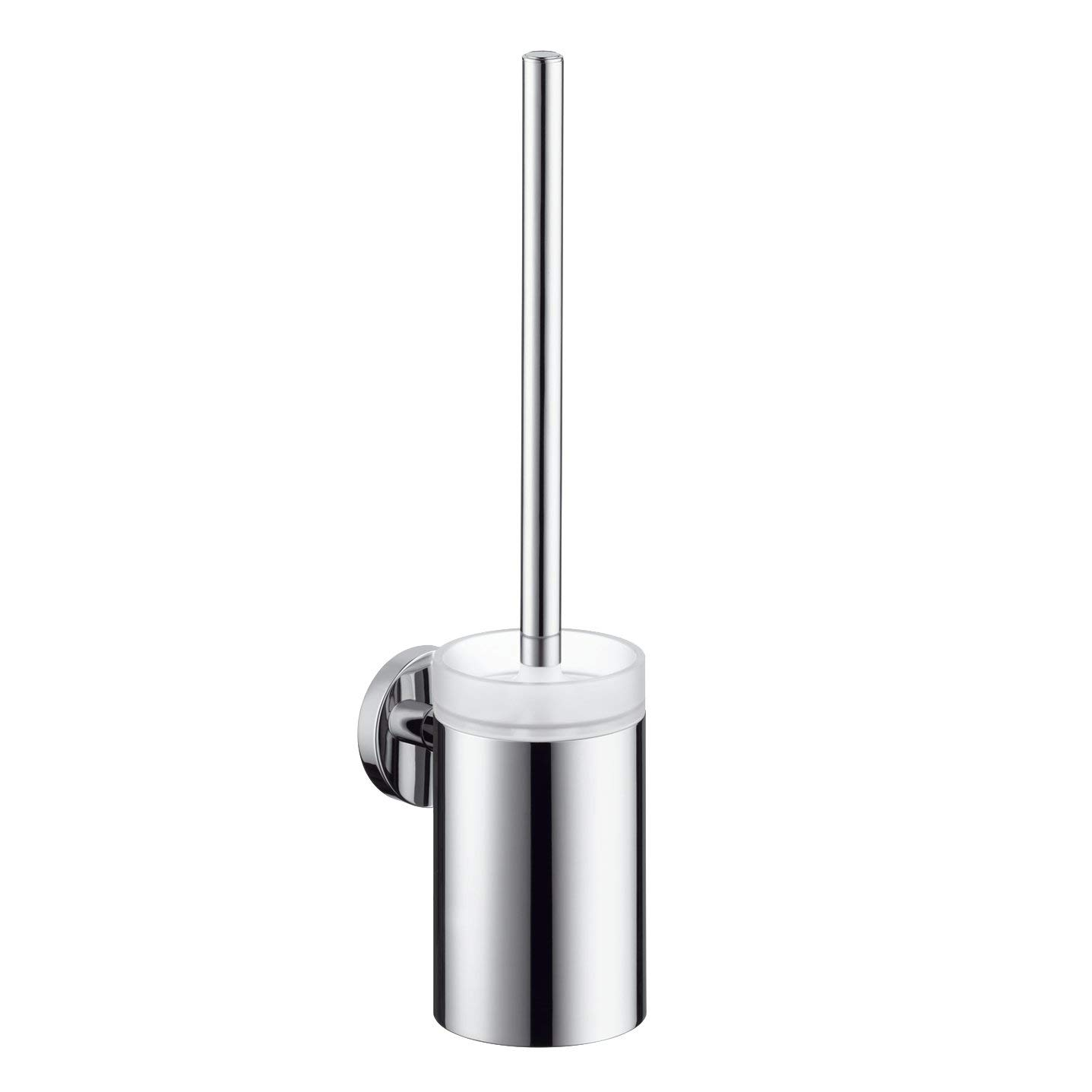Hansgrohe 40522820 S and E Toilet Brush with Holder, Brushed Nickel HG40522820
