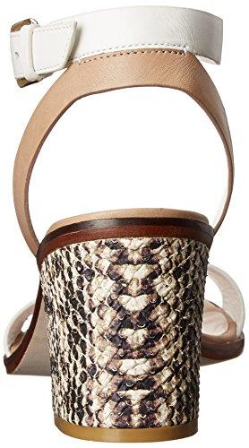 Cole Haan Vrouwen Cambon Mid Sandaal Optic Wit / Slangenprint