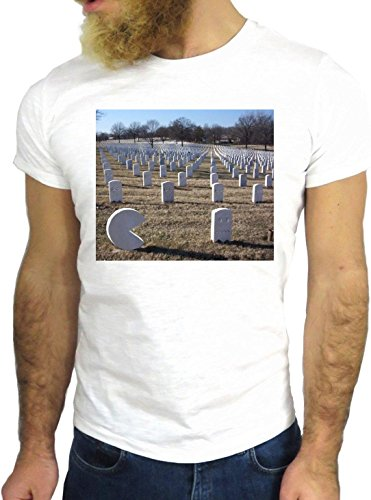 T SHIRT JODE Z3389 FUNNY COOL NICE PAC DEAD CEMETERY MAN FUN VINTAGE COOL GGG24 BIANCA - WHITE L