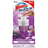 Windex Touch-Up (2 Pack) Antibacterial Multi-Surface Cleaner, Lavender Meadows, 10 Fl. Oz. Each