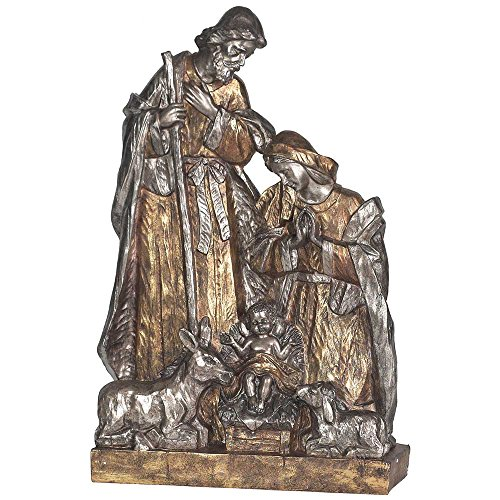 Holy Family With Animal Friends 20 x 26 Resin Stone Christmas Nativity Tabletop Figurine by Dicksons
