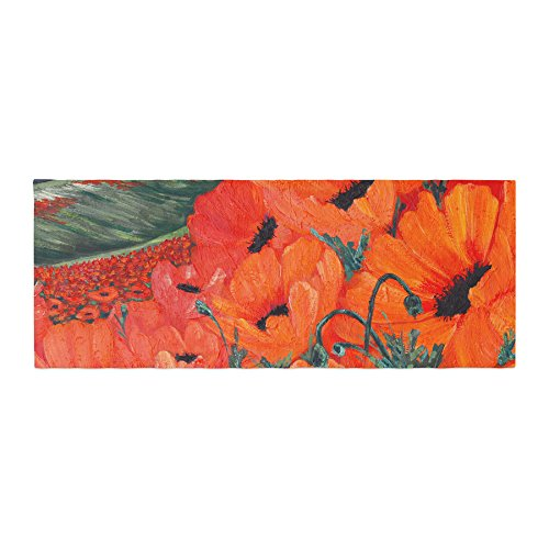 KESS InHouse Christen Treat Poppies Bed Runner