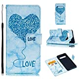 Find box Galaxy S10 Wallet Case,PU Samsung Galaxy S10 Leather Case with Credit Card Holder Magnetic Flip Shockproof Protective Cover for Samsung Galaxy S10 Blue