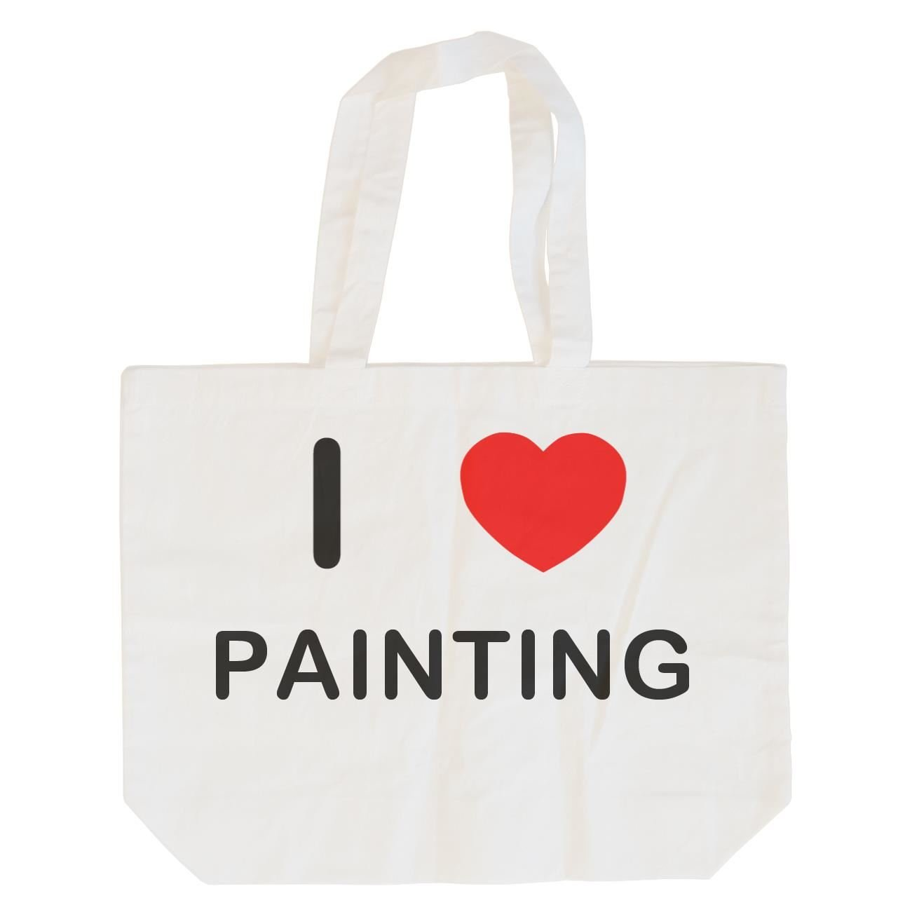 I love Painting Cotton Long Handle Sling Bag