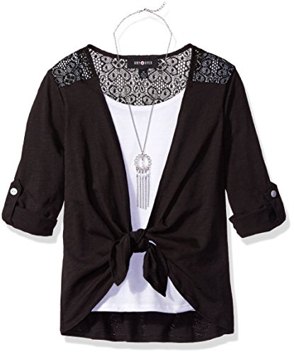 Amy Byer Girls Sleeve Blouse