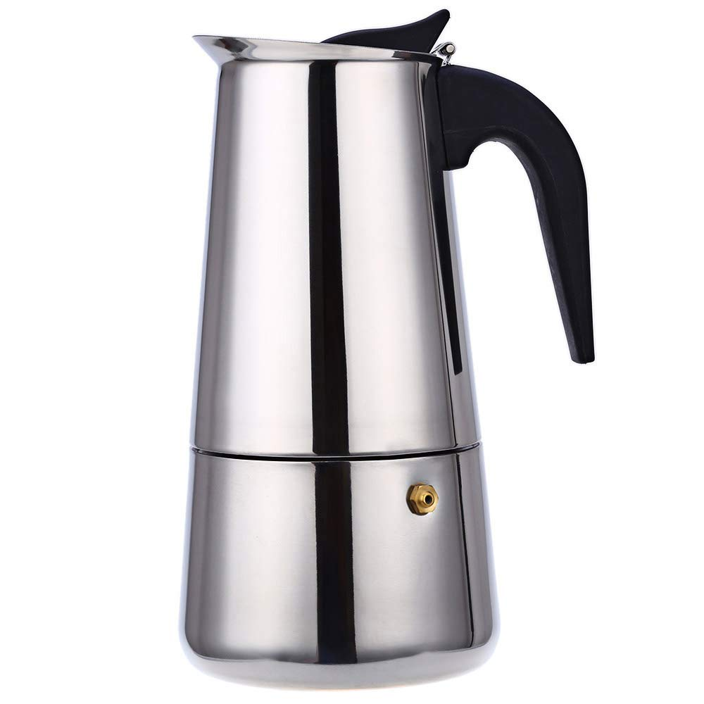 Robolife 9-Cups 450ML Stainless Steel Mocha Espresso Percolator Coffee Maker Pot