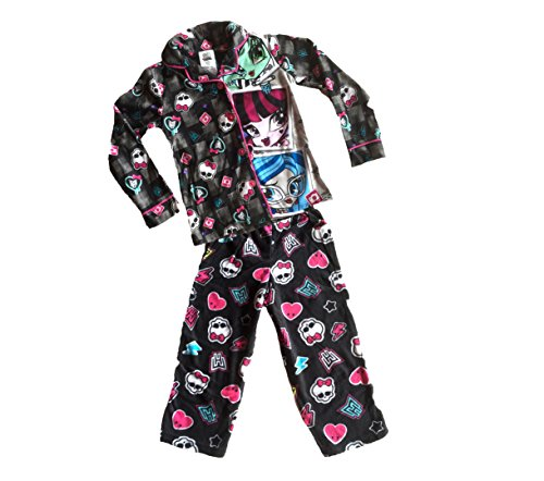 Monster High Two Piece Flannel Pajama Set Long Sleeve (L) ()